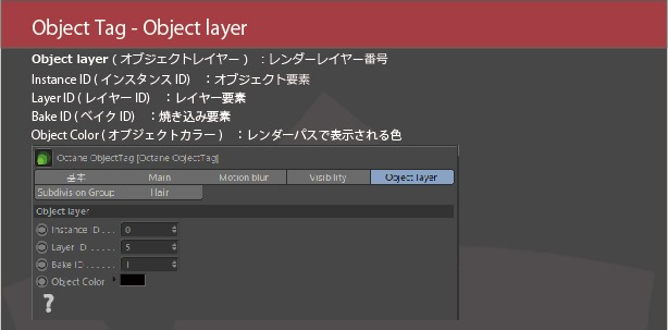 Object Tag Object layer