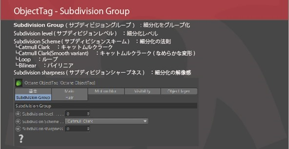 Object-Tag-Subdivision-Group